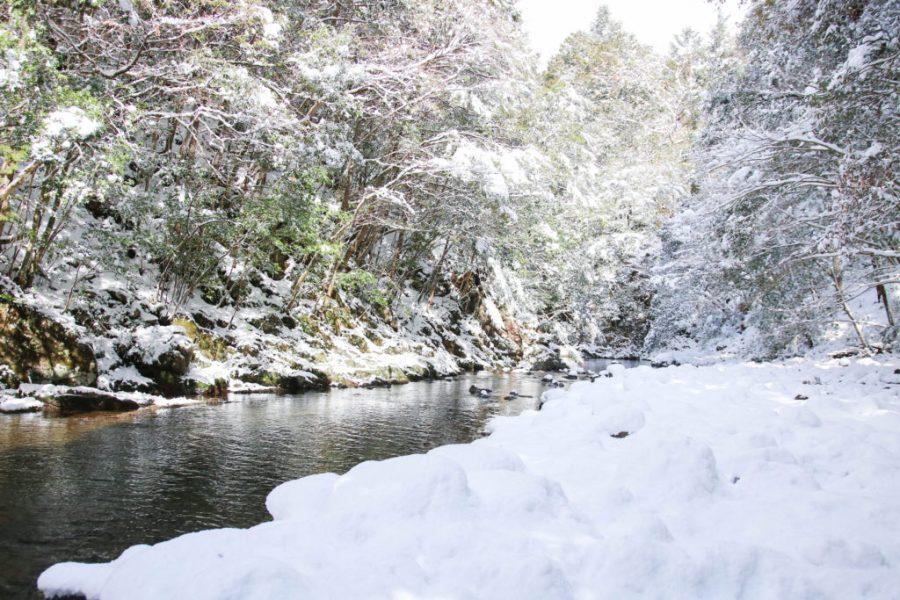 四万十町 松葉川 雪景色