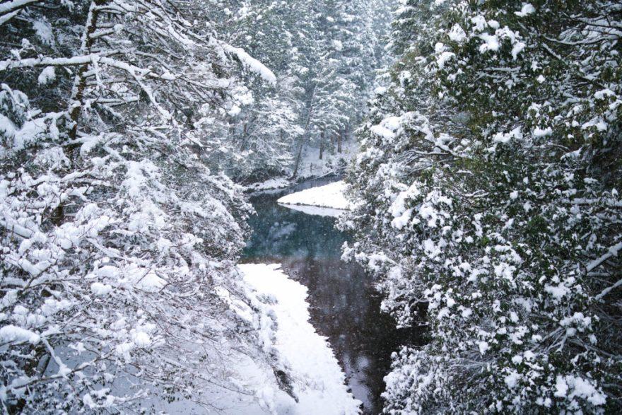四万十川 雪景色
