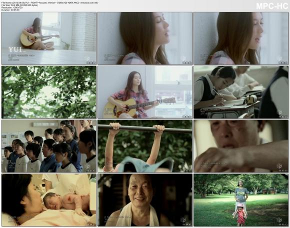 YUI - FIGHT!~Acoustic Version~ [720p]  AAC]
