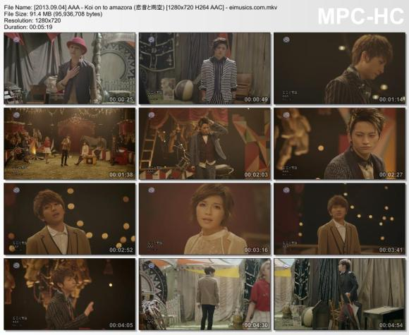 Download AAA - Koi on to amazora (恋音と雨空) [720p]   [PV]