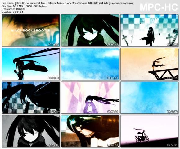 Download supercell feat. Hatsune Miku - Black RockShooter [480p] 264 [PV]