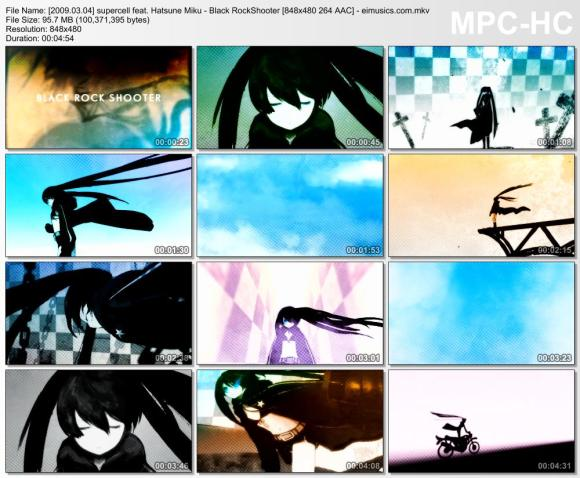 Download supercell feat. Hatsune Miku - Black RockShooter [480p] 264 [PV]