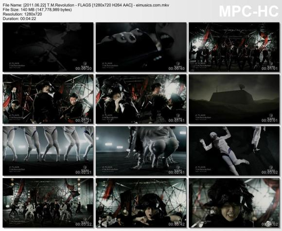 Download T.M.Revolution - FLAGS [720p]   [PV]