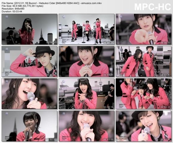 Download Buono! - Hatsukoi Cider [480p]   [PV]