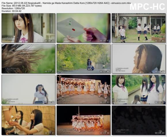Download Nogizaka46 - Namida ga Mada Kanashimi Datta Koro [720p]   [PV]