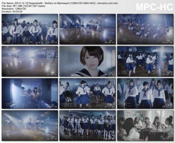 Download Nogizaka46 - Seifuku no Mannequin [720p]   [PV]