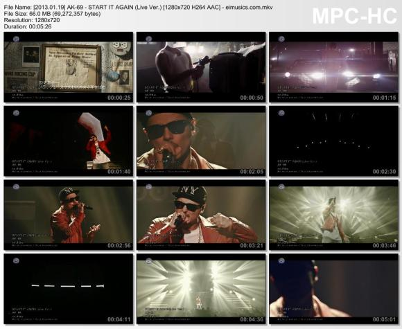 Download AK-69 - START IT AGAIN (Live Ver.) [720p]   [PV]