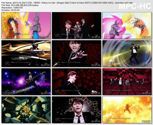 Download FLOW - HERO ~Kibou no Uta~ (Dragon Ball Z Kami to Kami EDIT) [720p]   [PV]