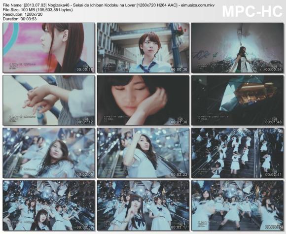 Download Nogizaka46 - Sekai de Ichiban Kodoku na Lover [720p]   [PV]