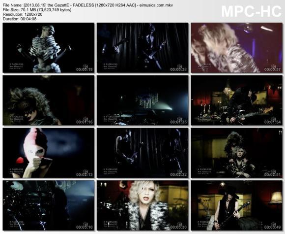 Download the GazettE - FADELESS [720p]   [PV]