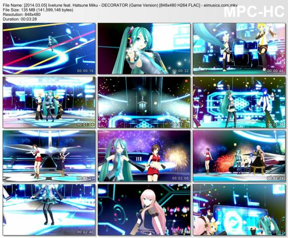 Download livetune feat. Hatsune Miku - DECORATOR (Game Version) [480p]   [PV]