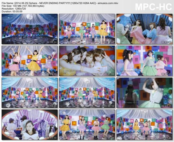 Download Sphere - NEVER ENDING PARTY!!!! [720p]   [PV]