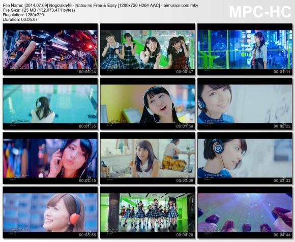 Download Nogizaka46 - Natsu no Free & Easy [720p]   [PV]