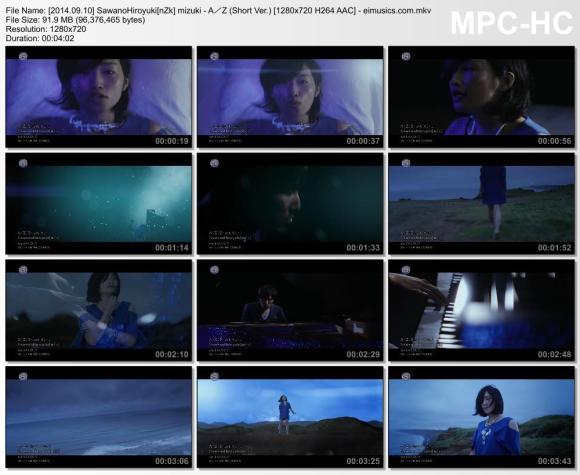 Download SawanoHiroyuki[nZk]:mizuki - A/Z (Short Ver.) [720p]   [PV]