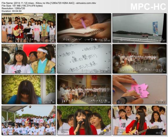 Download miwa - Kibou no Wa [720p]   [PV]