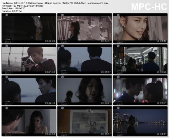 Download Galileo Galilei - Koi no Jumyou [720p]   [PV]