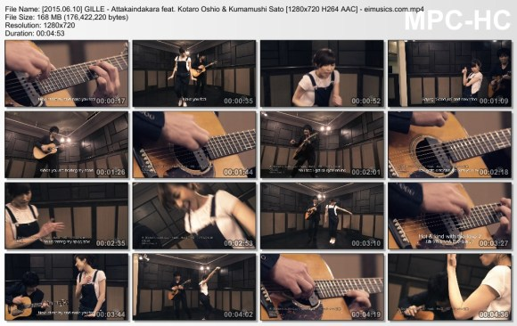 Download GILLE - Attakaindakara feat. Kotaro Oshio & Kumamushi Sato [720p]   [PV]
