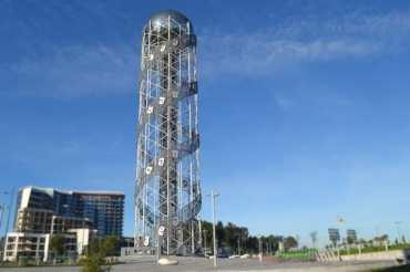 باتومي برج الحروف رمز السياحة في جورجيا