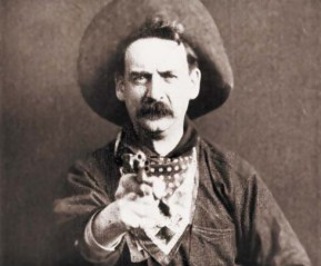 Actor Justus D. Barnes in The Great Train Robbery
