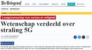 Vitenskapen delt om 5G De Telegraaf 23.3.2020