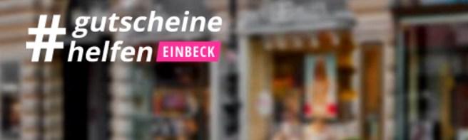 Screenshot #gutscheinehelfen einbeck (c) zmyle GmbH