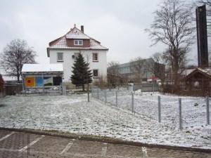 Wohnhaus und Werkstatt stehen heute auf dem verkauften Grundstück.