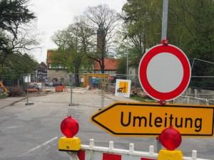 Seit Monaten gesperrt: die Brückenbaustelle am Tiedexer Tor.