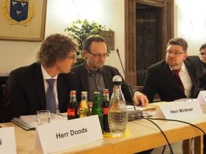 Neue Rollen im Rat: die Sozialdemokraten Frank Doods, Ulrich Minkner, Marcus Seidel.