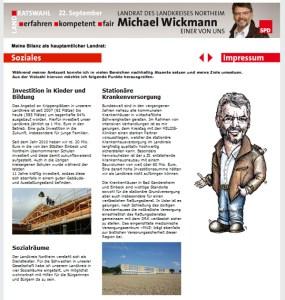 Screenshot Website Michael Wickmann 21.08.2013 mit Karikatur.
