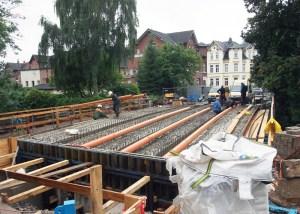 Dauer-Baustelle am Tiedexer Tor. Aufnahme vom 11.09.2013.