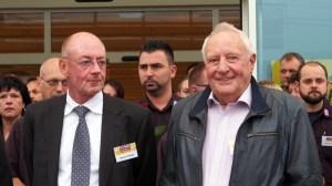 Marcus Schlösser (l.) und der Seniorchef des Investments, Wilhelm Fahrenkamp (82).