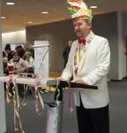 Karnevalspräsident Albert Eggers.