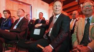 Freund des PS-Speichers: SPD-Bundestagsfraktionschef (und Ex-Goetheschüler) Thomas Oppermann, hier mit dem Vorsitzenden des Fördervereins, Dr. Andreas Büchting (r.)