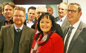 Dr. Bernd von Garmissen (l.) und Astrid Klinkert-Kittel bestreiten die Stichwahl, Jörg Richert schaffte einen Achtungserfolg.