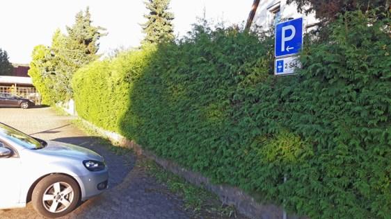 Ab sofort nur noch mit Parkscheibe: Parken gegenüber vom Friedhof-Hauptzugang.