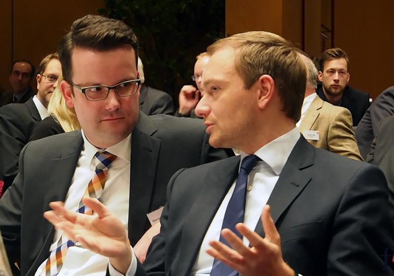 Christian Grascha (l.) mit FDP-Chef Christian Lindner. Archivfoto fb