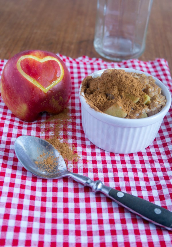 Outtake! Applepie Oatmeal Pudding, super schnell gemacht und einfach köstlich. Yummy!