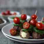 Caprese metballs, super fingerfood. Recipe also in english!