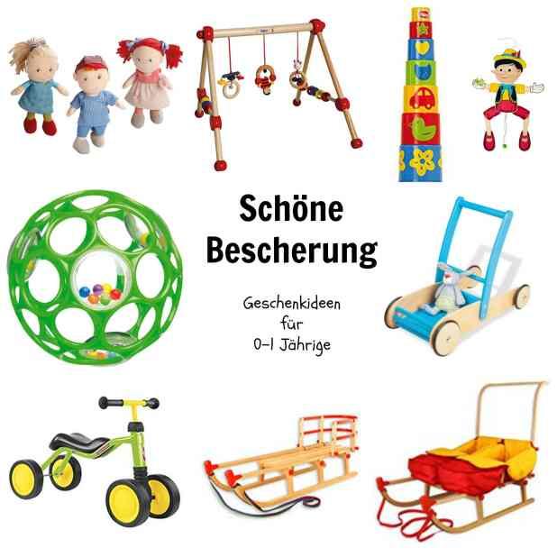 Geschenkideen für Kinder bis zum 1. Geburtstag