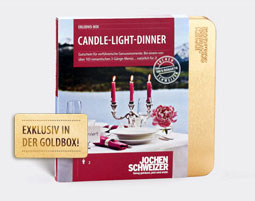 Erlebnis-Box 'Candle-Light-Dinner fuer 2'