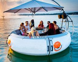 Grillparty auf dem Bodensee für 10