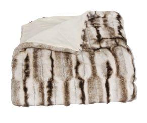 Kuscheliges Fellimitat für die kalten Abende. Maße: ca.150 x 200 cm, Material: Vorderseite: 50% Polyacryl, 50% Polyester, Rückseite: 100% Polyester, Mikro Plüsch.<br>