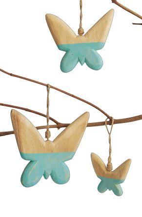 Dekorative Hänger aus Paulownia (Blauglockenbaum) Holz gefertigt. Maße: klein: ca. B7 x T1 x H6 cm, mittel: ca. B11 x T1 x H10cm, groß: ca. B13 x T1,5 x H12cm.<br>