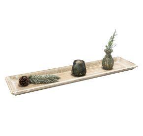 Perfekt zum Andekorieren von besonderen Lieblingsstücken. Maße: ca. L60 x T15 x H 2,5 cm, Gewicht: ca. 0,5 kg, Material: Schichtholz.<br>