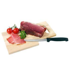 Das Präsent besteht aus einer Scheibe westf. Landrauchschinken, 200g egalisiert, über Buchenholz würzig geräuchert, ein Schneidebrett aus Buchenholz natur, Early Morning mit scharfem Messer. Maße: L34,5 x B14,0 x H8,0 cm, Material: Schneidebrett aus Buchenholz. Zutaten: Bauernschinken: Schweinefleisch, Salz, Naturgewürze.. Allergiehinweis: Kann Spuren allergener Stoffe nach Anlage 3 LMKV enthalten<br>
