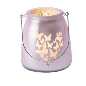 Für ein schönes dekoratives Licht sorgen diese lieblichen Windlichter aus Glas. Leuchtmittel: 10 LEDs, Farbtemperatur: Warmweiß, Batterien: 2 Mignonbatterien x 1,5 V, Maße: ca. 22 cm hoch, 12 cm Ø, Gewicht: ca. 0,5 kg, Material: Glas, Kunststoff.<br>