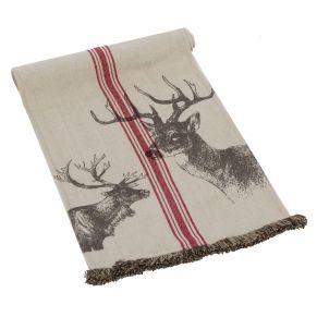Tischläufer. Maße: ca. 140 x 40 cm, Gewicht: ca. 0,3 kg, Material: 100% Baumwolle.<br>