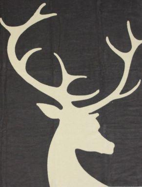 Mit Wendemöglichkeit. Maße: ca. 150 x 200 cm, Material: 60% Baumwolle, 40% Polyacryl.<br>