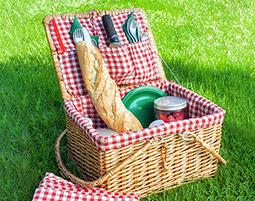 Picknick Deluxe statt Hamburger und Fritten!