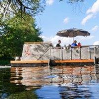 Ponton-Boot Kurzurlaub Oberfranken fuer bis zu 4 Personen